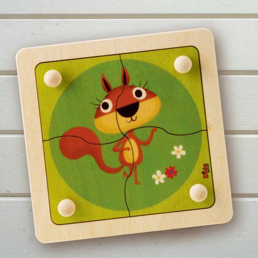 puzzle scoiattolo bosco