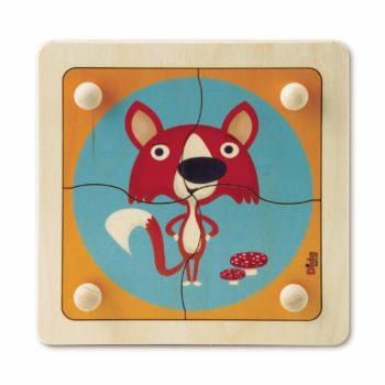 Puzzle Volpe - puzzle e incastri facili per bimbi piccoli - Dida