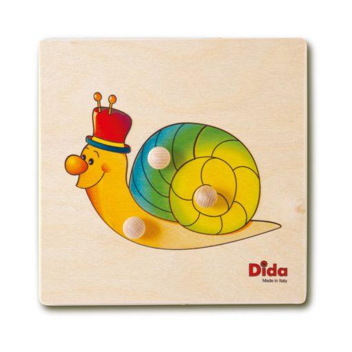 Puzzle Lumaca primi giochi di manualità per bambini piccoli - Dida