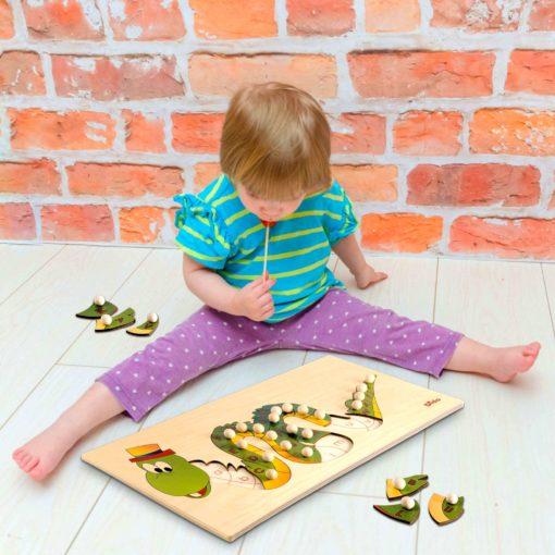 puzzle alfabeto dragone