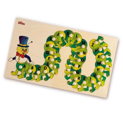 Puzzle Alfabeto Bruco primi esercizi per imparare a leggere e scrivere-Dida