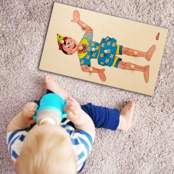 Puzzle Pinocchio schema corpo