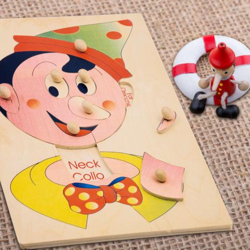 puzzle pinocchio schema viso
