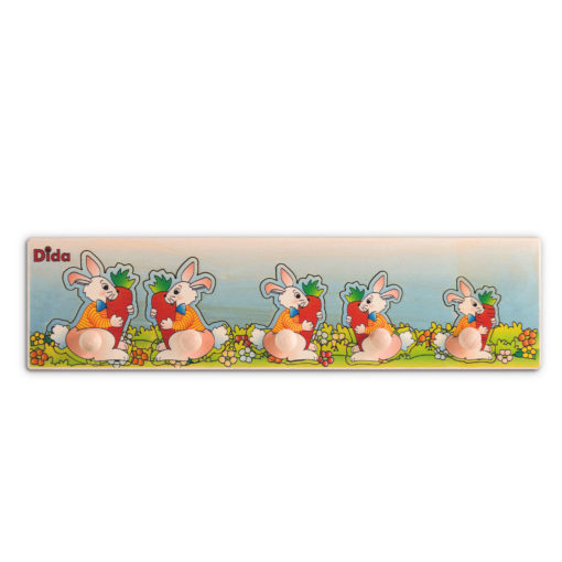 Seriazione Conigli -puzzle e incastri per bambini -metodo Montessori -Dida