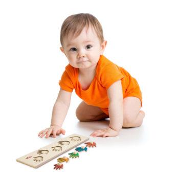 Seriazione Mani - puzzle di legno - metodo Montessori - Dida