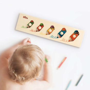 Seriazione Matite - incastri facili dal grande al piccolo - Montessori - Dida