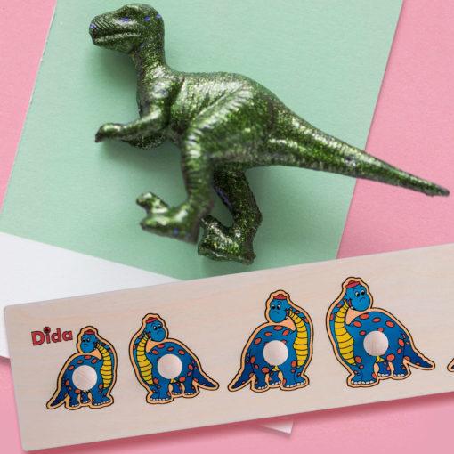 Seriazione dinosauro - esercizi per distinguere dal grande al piccolo - Dida