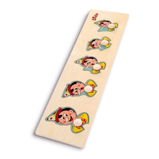 Seriazione Pinocchio - puzzle e incastri - sequenza grande piccolo - Dida