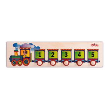 Seriazione Trenino gioco didattico per imparare i primi numeri - Dida