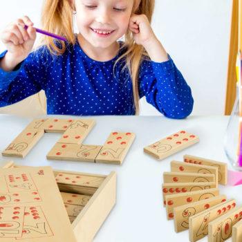 Domino Numeri e Quantità gioco da tavolo e di società per tutte le età-Dida
