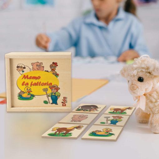 Memo Fattoria degli animali - memory game - gioco delle coppie - Dida