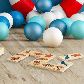 Domino animali marini gioco da tavolo per grandi e piccini-28 tessere -Dida