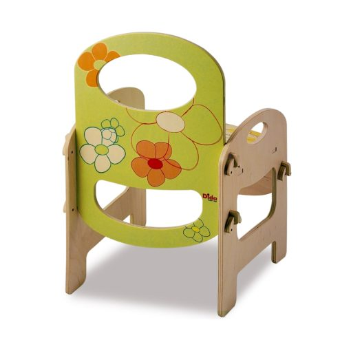Sedia in legno Fiore per bambini arreda la cameretta, ma anche asili e scuole - Dida