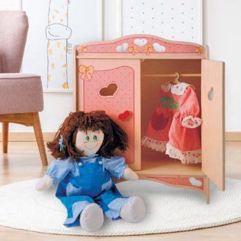 armadio bambole rosa