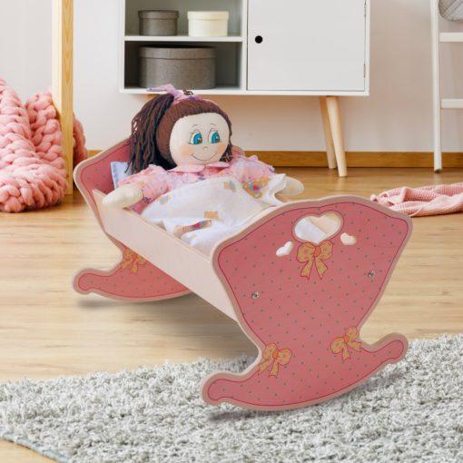culla bambole rosa
