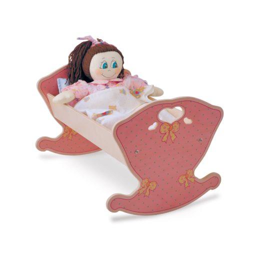 Culla per bambole Rosa gioco simbolico per bambini dai 2 anni di età -Dida