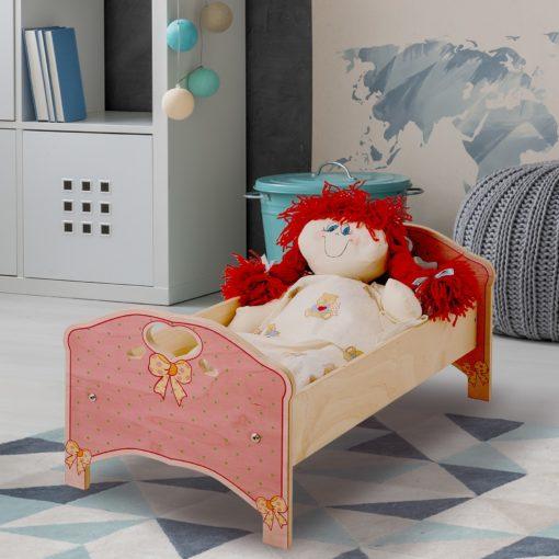 lettino bambole rosa