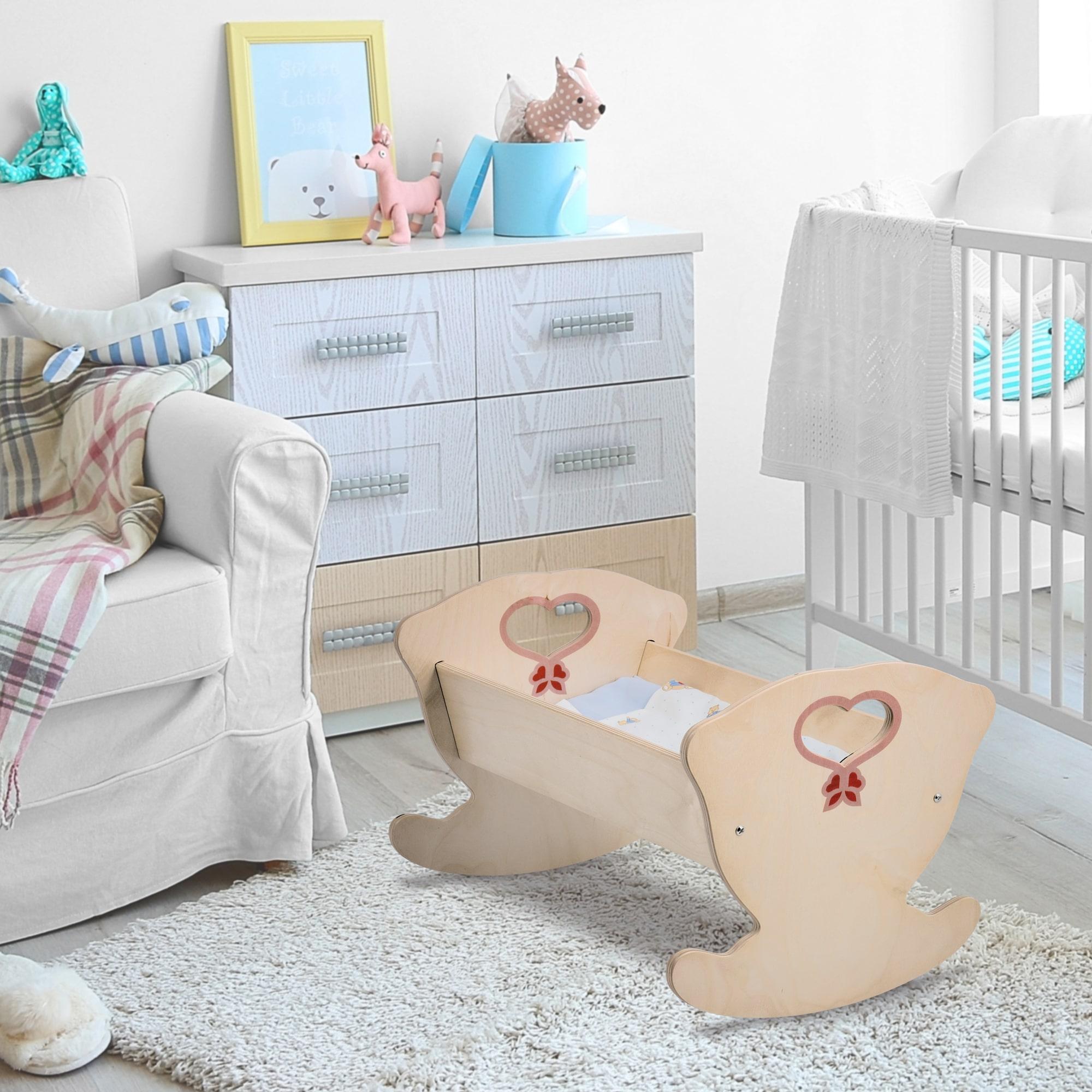 culla in legno per bambole