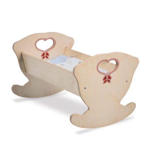 Culla in legno per bambole Natura è un gioco di imitazione per bimbi - Dida