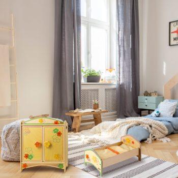 Armadio e lettino giocattolo Fiore per bambole e bambini dai 2 anni di età - Dida
