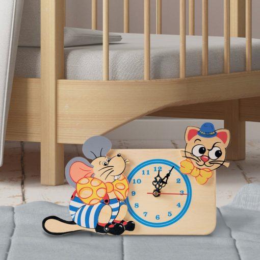 orologio tavolo topo gatto